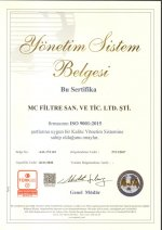 ISO 9001:2015 Quality Management Systems Certificate